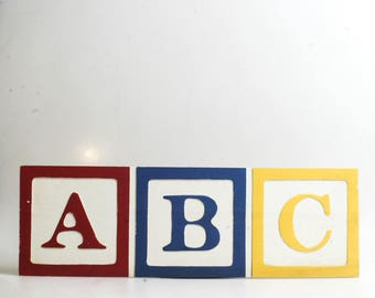 ABC Toy Block Wall Hanging//Baby Portrait Prop//Child Photo Prop