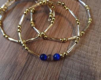 Gold memory wire bracelets