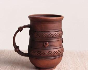 Large pottery mug, handmade beer mug, ceramic mug, pottery mug, stoneware, tea cup, rustic cup, coffee mug, handmade pottery, gift for men