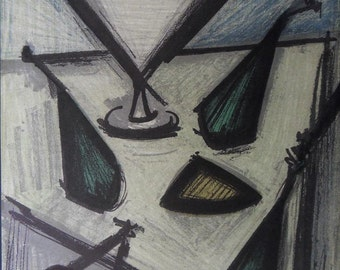 Bernard Buffet - lithograph signed referenced still life fruit #MOURLOT