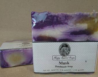 Musk Scented Handmade Soap,  Natural Skincare, Homemade Soap, UK, Bar Soap, Cold Process Soap, Exfoliating