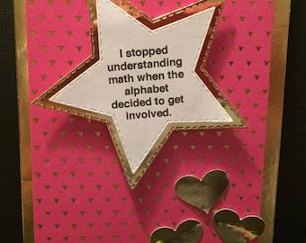 Math Thank You Card Tangent Thank You Card Tan Q Nerd Geek