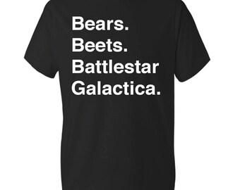 Bears Beets Battlestar Galactica Shirt The Office Heather  Shirt Dwight You Ignorant Slut Shirt Dwight Schrute Shirt Dunder Mifflin