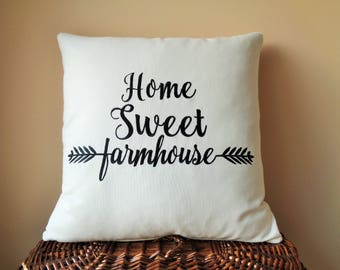 Home Sweet Farmhouse Accent Pillows, Magnolia Market Decor, Joanna Gaines Decor, Modern Farmhouse Decor, Fixer Upper Decor