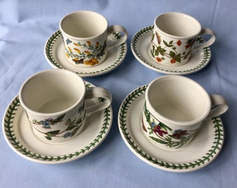 Portmeirion cups and saucers. Set of 4