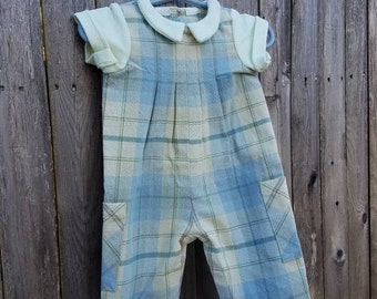 Baby Boy Spring Summer Outfit, Baby Boy Romper, Mothers Day outfit, size 1-3 months only