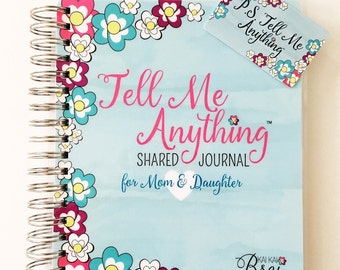 Mom & Daughter Journal | Tell Me Anything Shared Journal by Kai Kai Brai ~ KKB Signature Cover
