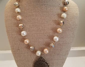 Victorian Filigree Pendant Necklace
