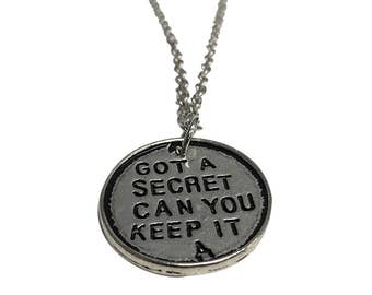 Got A Secret Can You Keep It A Pendant Necklace Pretty Little Liars TV Show Quote PLL Gift Jewelry Silver Chain High Quality