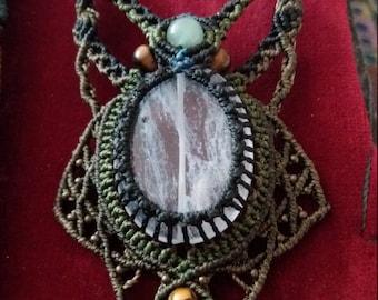 macramé necklaces ' hand made