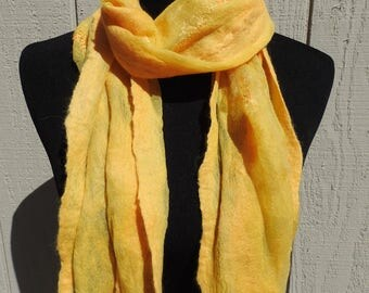 Marigold alpaca on silk gauze