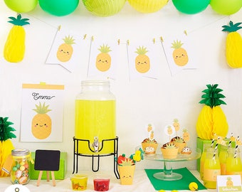 Printable kit for summer - pack to print pineapple