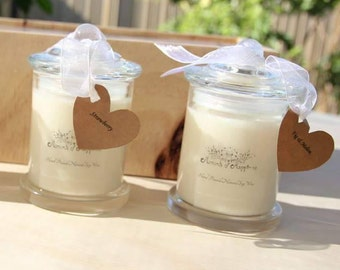 2 Hand Poured Natural Soy Wax - Approximately 30 hours burn time each Candle