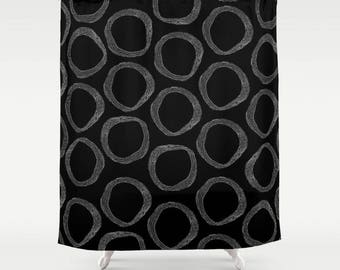Black and White Shower Curtain, kunst duschvorhang, Art Shower Curtain, Shower Curtains, Bathroom Curtain, Bath Curtain, Fabric Bath Curtain