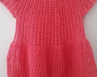 Lightweight Crocheted Girls Shirt