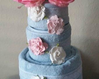Custom Bridal Shower Towel Cake