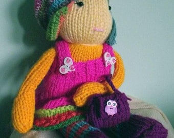 Hand-knitted doll