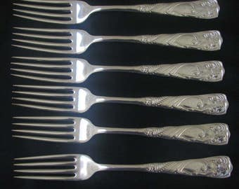 Silver metal 19th 1847 Rogers Bros forks