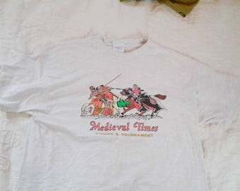 Medieval Times Shirt Big Graphic Tee Size L