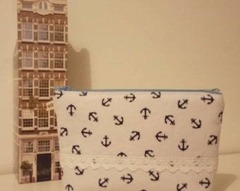 Wash Bag / Makeup Bag / Toiletry bag / Travel / Anchors / The Muse Collection