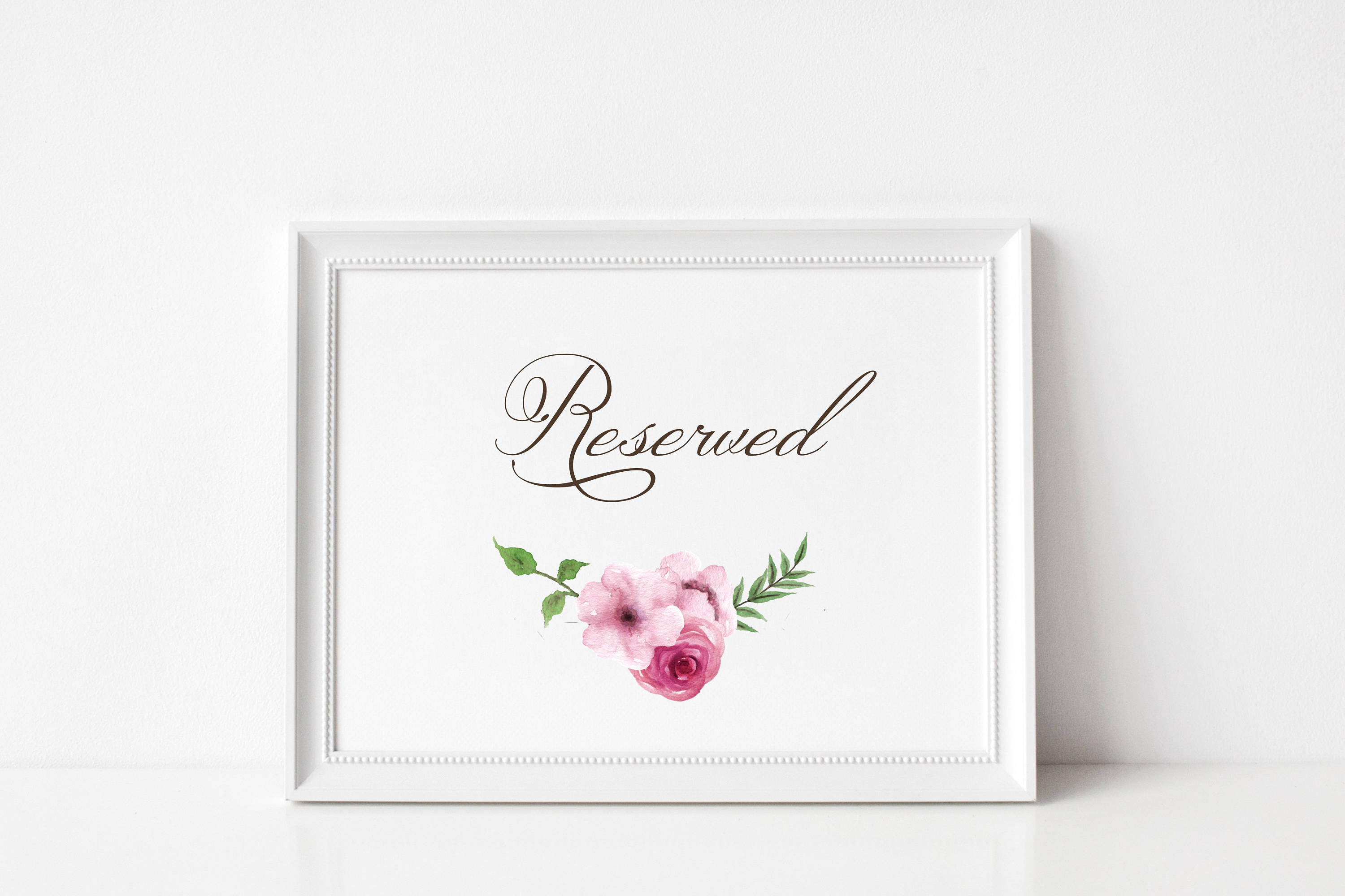 Reserved Signs for Wedding | Wedding Reserved Sign | Reserved Table ...