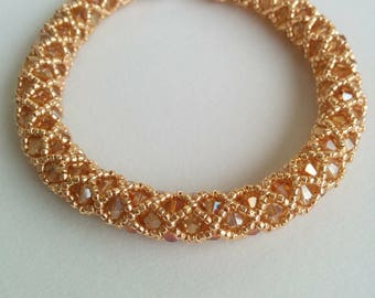 Rose Gold and Crystal Bangle