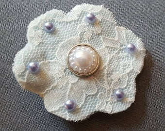 Lace and felt hair clip