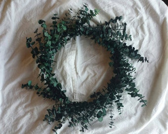 Natural eucalyptus wreath