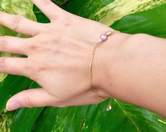 14 kgf Bracelet w / pearls