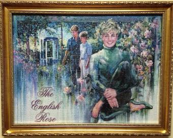 English Rose Princess Di Framed Puzzle