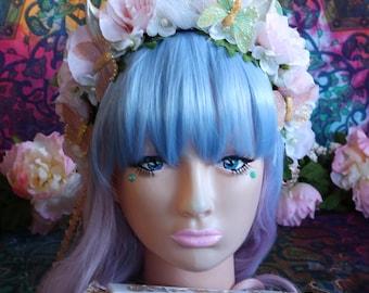 Unicorn/Flower Headband-Headpiece/Crown/Kawaii/Lolita/BoHo-Fairy (Princess)