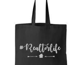 Hashtag Realtor Life Canvas Tote Bag