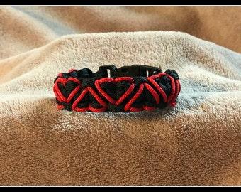 Black Hearts Paracord Bracelet