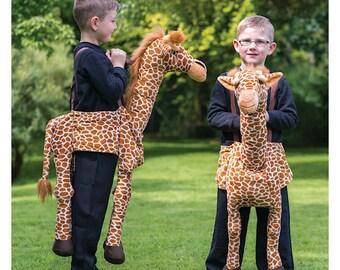 Deluxe Ride On Giraffe fancy dress Boys Girls Lion King Costume One Size 3-9 years Roald Dahl Day