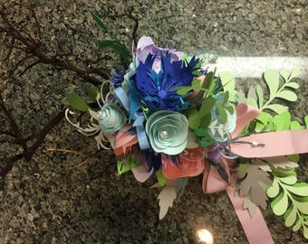 Large Handmade Paper Wedding Bouquet for a Gorgeous Paradise Island