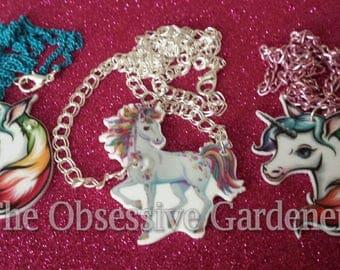 Unicorn Necklace 2 Designs Fantasy Horse Pony