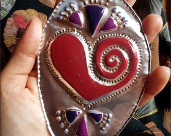 Ex-voto heart spiral Red