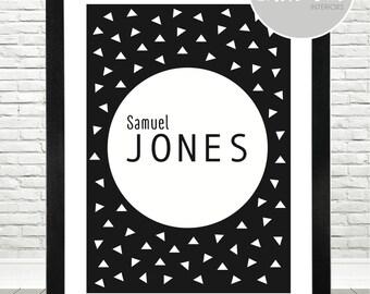 Boys Initial / Name Print