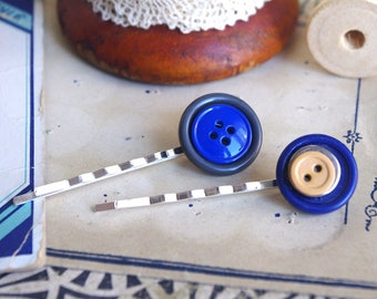 vintage hair pins, vintage hair grips, affordable hair pins, blue headpiece set, blue hair pins, blue headpieces, blue hair pins set