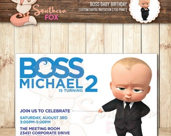 Boss Baby Invitation Etsy - Birthday invitation in germany