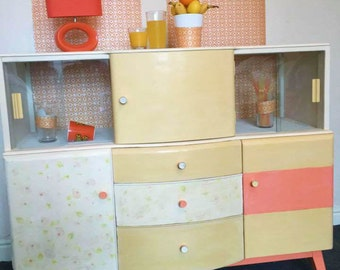 Retro 1950's Beautility drinks cabinet upcycled and redesigned