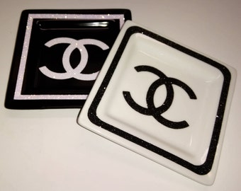 Chanel Inspired - Chanel Tray - Chanel Ring Dish - Chanel Accessories - Chanel Inspired Accessories - Chanel