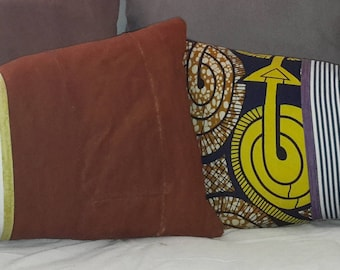 designer accent throw pillow, chic  unique mudcloth pillows at 16pillows.shabby, ethnic, tribal , Some vintage and industrial looks