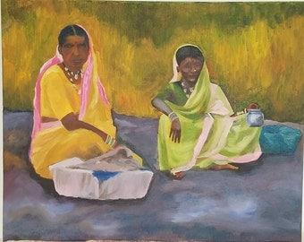 Women selling berries