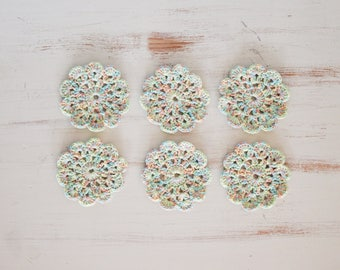 Crochet Coasters - Set of 6