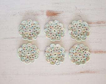 Crochet Coasters - Set of 6