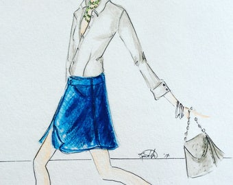 Fashion Illustration Women in Crisp White