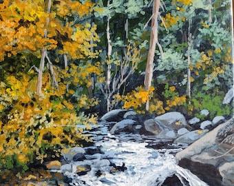 Original Acrylic 8 x 10 Landscape Painting on Canvas Board By: TKSteele