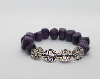 Purple stones bracelet
