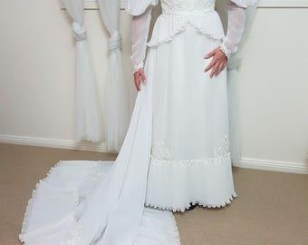Vintage 80's Wedding Dress